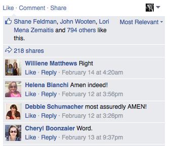 facebook page amens